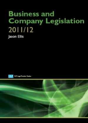 पुस्तक कवर Business and company legislation. [2011/2012]