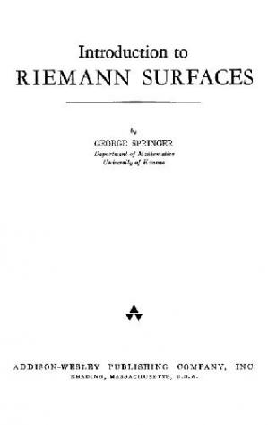 Okładka książki Introduction to Riemann Surfaces