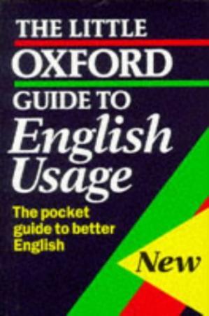 A capa do livro The Little Oxford Guide to English Usage