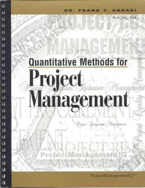 Book cover Quantitative Methods For Project Management Mcgraw Hill