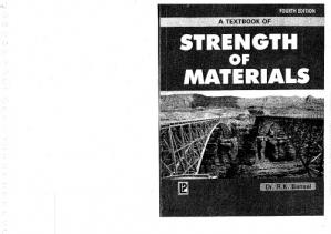 Book cover A Textbook of Strength of Materials (In S.I. Units)