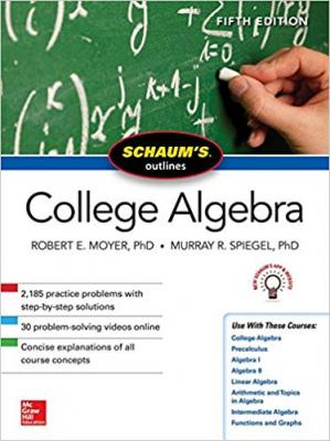 La couverture du livre Schaum's Outline of College Algebra