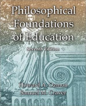 Book cover Philosophical foundations of education, 7th Edition