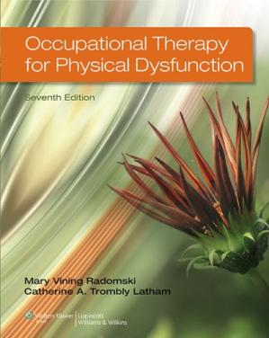 A capa do livro Occupational Therapy for Physical Dysfunction Seventh Edition