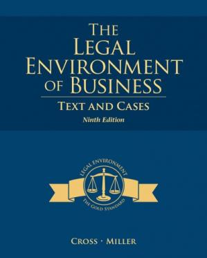 Couverture du livre The Legal Environment of Business: Text and Cases