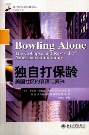 Book cover 独自打保龄:美国社区的衰落与复兴(Bowling Alone: The Collapse and Revival of American Community)