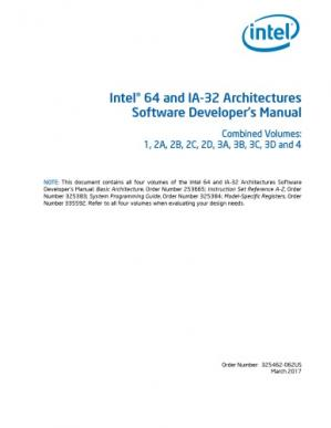 Book cover Intel® 64 and IA-32 Architectures Software Developer's Manual