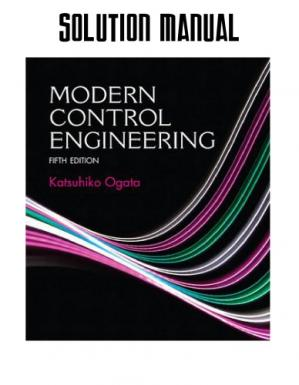 Sampul buku Solution Manual for Modern Control Engineering