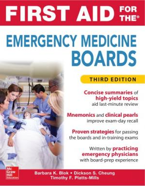 Book cover First Aid for the Emergency Medicine Board
