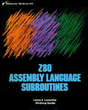 Book cover Z80 assembly language subroutines