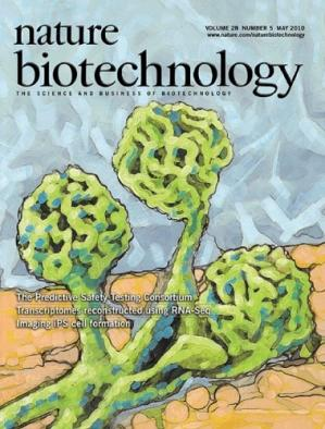 Book cover Nature Biotechnology 05 2010 (magazine journal; May 2010)