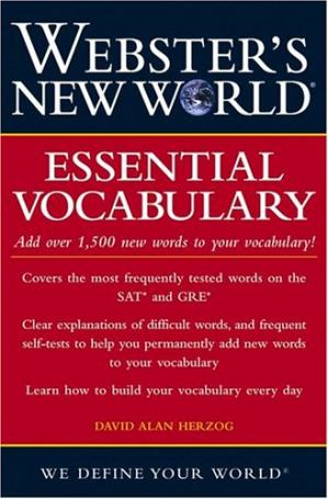 Book cover Webster's New World Essential Vocabulary for SAT and GRE