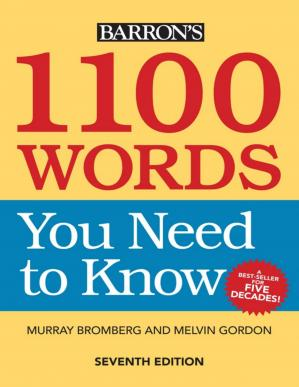 A capa do livro Barron's 1100 words you need to know