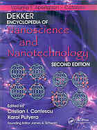 Обложка книги Dekker encyclopedia of nanoscience and nanotechnology Volume I-VI
