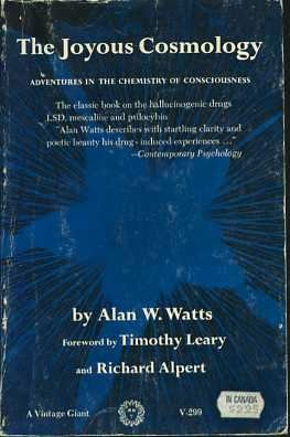 Book cover The Joyous Cosmology: Adventures in the Chemistry of Consciousness