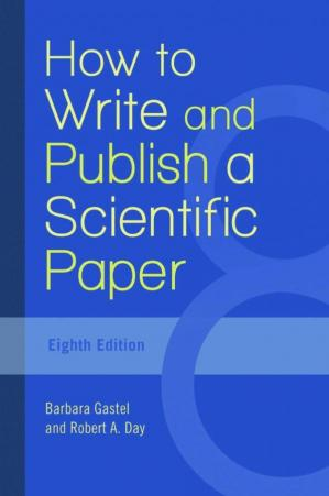 غلاف الكتاب How to Write and Publish a Scientific Paper