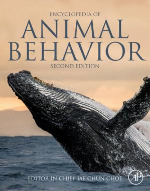 A capa do livro Encyclopedia of Animal Behavior, Volumes I-IV