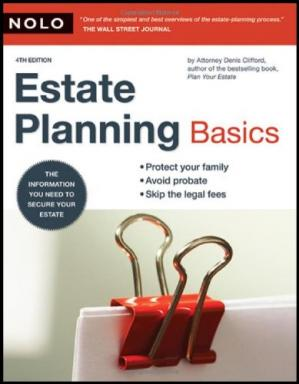 Copertina Estate Planning Basics 4th edition