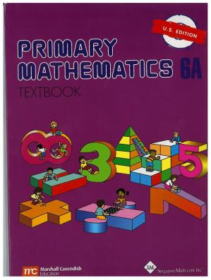 A capa do livro Singapore Math 6A Textbook