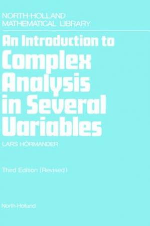 Book cover An introduction to complex analysis in several variables