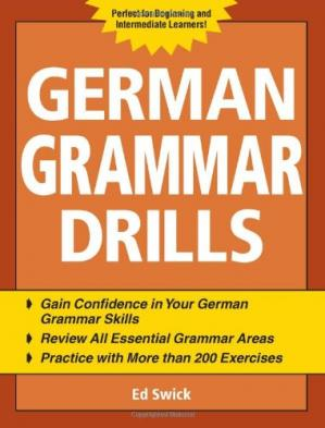 Couverture du livre German Grammar Drills