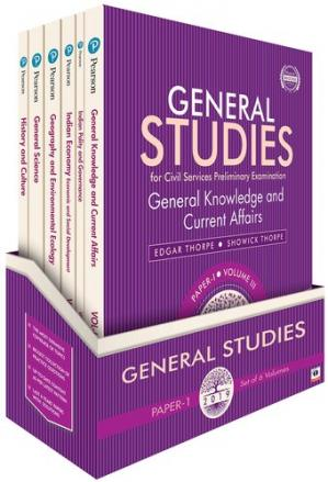 Book cover General Studies for Civil Services Preliminary Examination 2019 6 Volume Set
