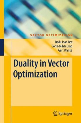 Copertina Duality in vector optimization
