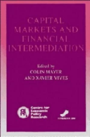 Portada del libro Capital Markets and Financial Intermediation