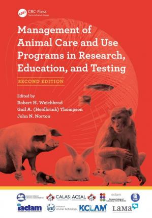 A capa do livro Management of Animal Care and Use Programs in Research, Education, and Testing, Second Edition