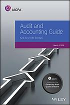 Copertina Audit and Accounting Guide: Not-For-Profit Entities, 2018