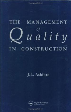 Book cover Management of Quality in Construction