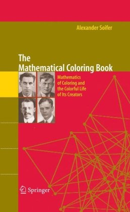 पुस्तक कवर The Mathematical Coloring Book: Mathematics of Coloring and the Colorful Life of its Creators