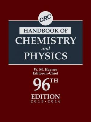 Book cover CRC Handbook of Chemistry and Physics