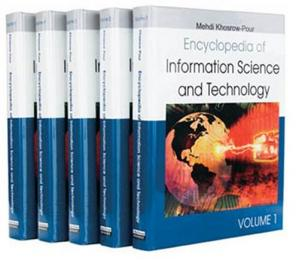 A capa do livro Encyclopedia of Information Science and Technology