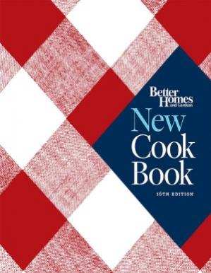 A capa do livro Better Homes and Gardens New Cook Book, Sixteenth Edition