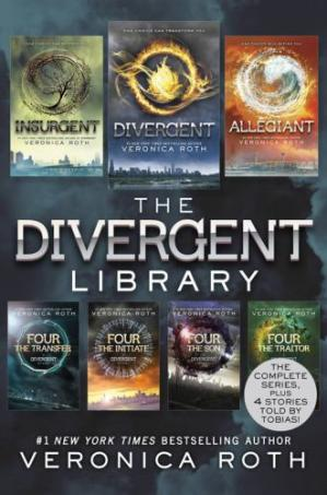 Book cover The Divergent Library (Divergent; Insurgent; Allegiant; The Transfer, The Initiate, The Son, The Traitor)