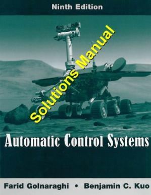 Обложка книги Automatic Control Systems, 9th Edition - Solutions Manual