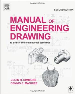 Book cover Manual of engineering drawing. Second edition