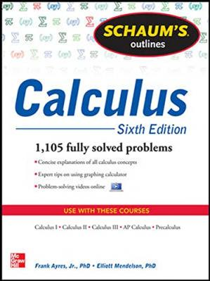 Обкладинка книги Schaum's Outline of Calculus, 6th Edition