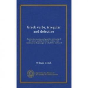 Εξώφυλλο βιβλίου Greek verbs, irregular and defective