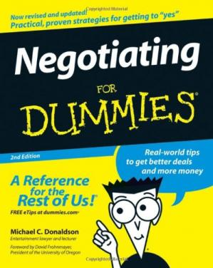 Book cover Negotiating For Dummies