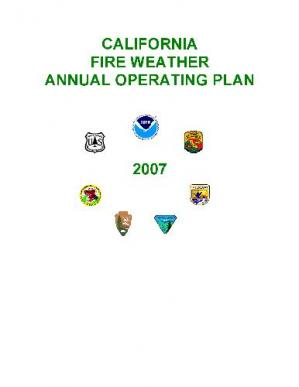 წიგნის ყდა California Fire Weather Annual Operating Plan