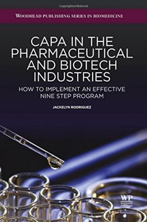 Copertina CAPA in the Pharmaceutical and Biotech Industries: How to Implement an Effective Nine Step Program