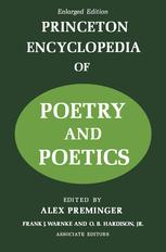 Portada del libro Princeton Encyclopedia of Poetry and Poetics