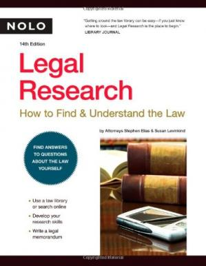 Book cover Legal Research: How to Find & Understand the Law