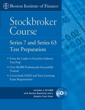 Sampul buku The Boston Institute of Finance Stockbroker Course: Series 7 and 63 Test Prep + CD