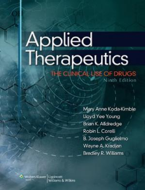 पुस्तक कवर Applied Therapeutics: The Clinical Use of Drugs