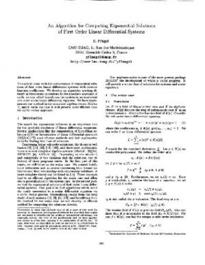 Book cover Exponential solutions of 1st order ODE systems