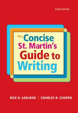 Book cover The Concise St. Martin's Guide to Writing