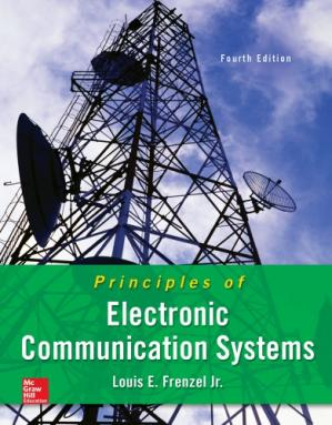 A capa do livro Principles of electronic communication systems